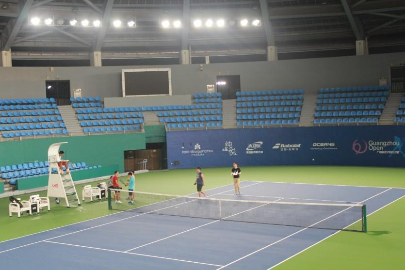 常州奥体中心网球场_广东奥林匹克网球中心-网球场案例-广东七大洲实业有限公司